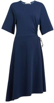 319c490aa3710 See by Chloe Drawstring Cut Out Crepe Midi Dress - Womens - Navy