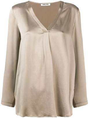 Max & Moi front pleat V-neck blouse