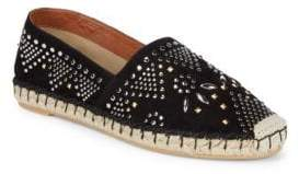 Valentino Jeweled Leather Espadrilles