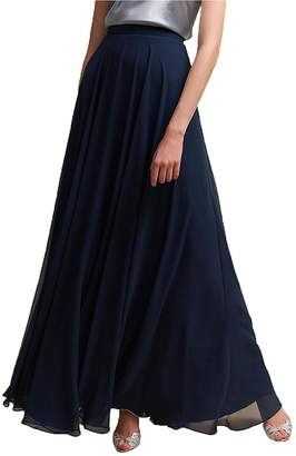 Omleas Omelas Women Long Floor Length Chiffon High Waist Skirt Maxi Bridesmaid Pary Dress (, S)