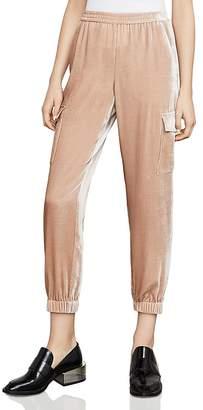 BCBGMAXAZRIA Cian Velvet Cargo Pants