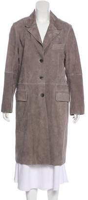 Gerard Darel Suede Knee-Length Coat w/ Tags