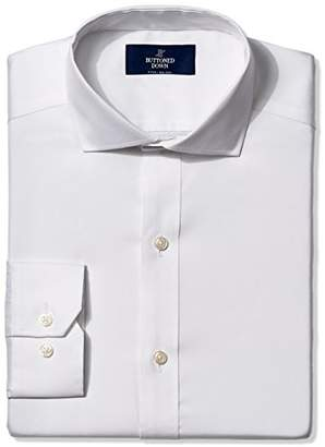 Buttoned Down Men's Fitted Cutaway-Collar Non-Iron Dress Shirt