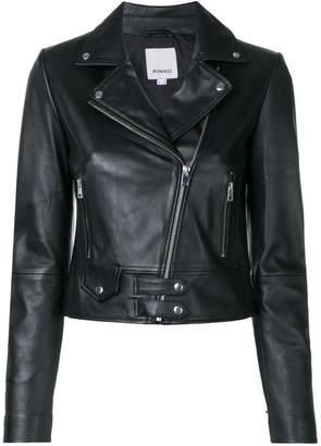 Pinko fitted biker jacket