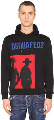 DSQUARED2 Cowboys Cotton Jersey Sweatshirt Hoodie