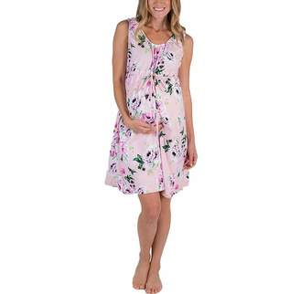 98bfc36f7bcf9 Canrulo Women's Maternity Dress Labor Delivery Hospital Gown Nursing  Breastfeeding Nightgown Floral Tank Dress (S