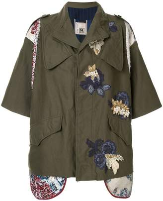 Antonio Marras embroidered military jacket