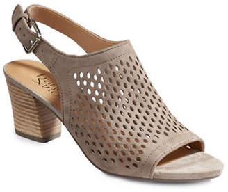 Franco Sarto Monaco2 Perforated Suede Sandals