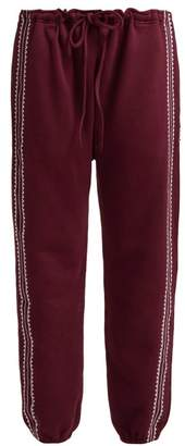 The Upside Phoenix Byron Cotton Track Pants - Womens - Burgundy White