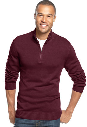 John Ashford Solid Quarter-Zip Sweater $50 thestylecure.com