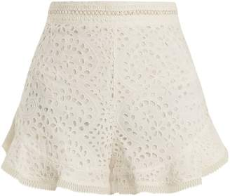 Zimmermann Lovelorn broderie anglaise cotton shorts