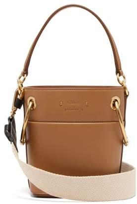 Chloé Roy Mini Leather Bucket Bag - Womens - Light Brown