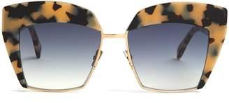 Cat Eye SARTORIALEYES Square cat-eye tortoiseshell sunglasses