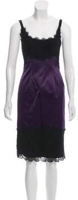 Diane von Furstenberg Sleeveless Lace-Accented Dress