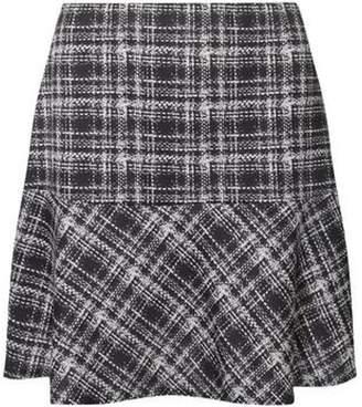 Dorothy Perkins Womens Black and White Check Print Peplum Mini Skirt