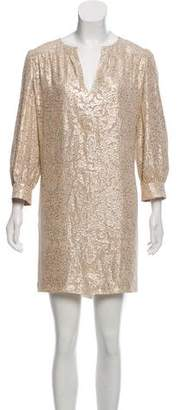 Elizabeth and James Metallic Shift Dress w/ Tags