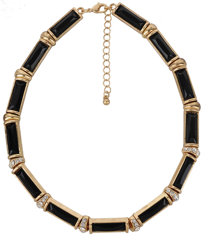 Forever 21 Rhinestone & Opaque Necklace