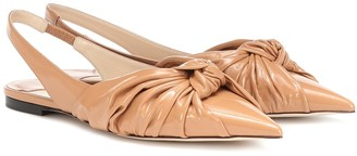 Jimmy Choo Annabell leather slingback flats