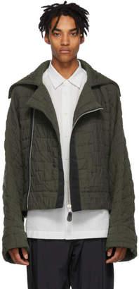 Issey Miyake Black Quilted Jacquard Jacket