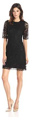 Lark & Ro Women's Short Sleeve Lace Sheath Dress