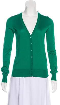 Dolce & Gabbana Silk Long Sleeve Cardigan