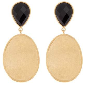 Rivka Friedman 18K Gold Clad Gemstone Drop Earrings