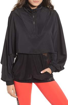 Ivy Park R) Regal Drape Sleeve Mesh Panel Jacket