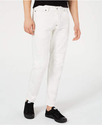 17984a7ce9b G Star Men Tapered White Moto Jeans