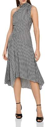 Reiss Adelia Asymmetric Houndstooth Dress