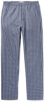 Hamilton and Hare Gingham Cotton And Cashmere-Blend Pyjama Trousers
