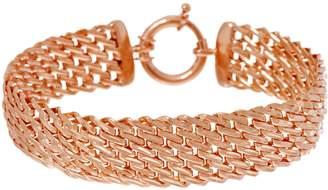 "Sterling Silver 8"" Diamond Cut Woven Bracelet by Silver Style 16.2g"