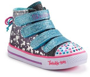 Skechers Twinkle Toes Shuffles Skip N Jump Toddler Girls' Light-Up Shoes $54.99 thestylecure.com