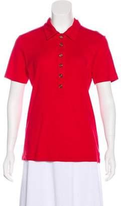 Tory Burch Short Sleeve Polo T-Shirt