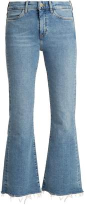 MiH Jeans Lou high-rise flared cropped jeans
