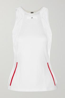 adidas by Stella McCartney Mesh-paneled Stretch Tank - White