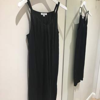 Great Plains Paola Pleat Strappy Dress - 12 | black - Black/Black