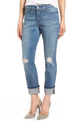 Women's Nydj Jessica Distressed Fray Cuff Boyfriend Jeans $134 thestylecure.com