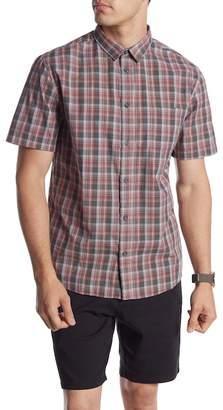 Quiksilver Tidal Brinx Plaid Short Sleeve Regular Fit Shirt