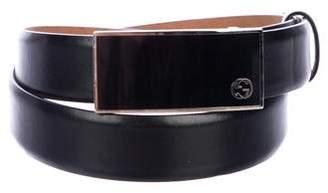 Gucci Leather Interlocking GG Belt