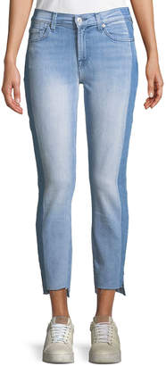 7 For All Mankind Roxanne Ankle Jeans With Side Shadow Seam in Bright Bristol