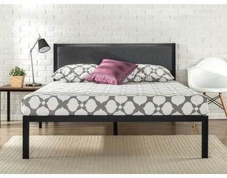 "Zinus 14"" Platform Metal Bed Frame with Upholstered Headboard, Multiple Sizes"
