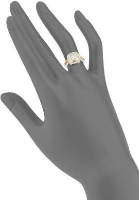 Charles Krypell Ivy Sterling Silver, 18K Yellow Gold & Diamond Ring
