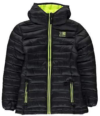 Kids Hot Crag Insulated Jacket Junior Down Coat Top Long Sleeve Chin