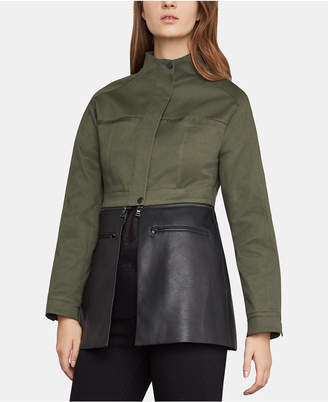 BCBGMAXAZRIA Faux-Leather-Peplum Jacket