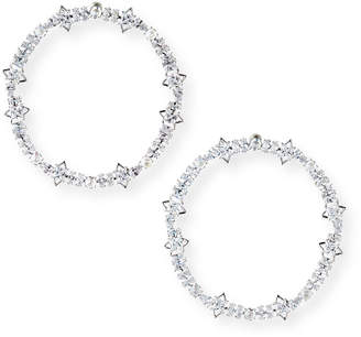 Fallon Jagged-Edge Cheekbone Hoop Earrings