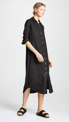 VETIVER Avalon Button Up Maxi Dress