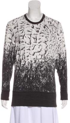 Helmut Lang Digital Print Long Sleeve Sweatshirt