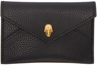 Alexander McQueen Black Skull Envelope Card Holder $195 thestylecure.com