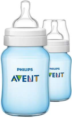 Avent Naturally Classic Feeding Bottle 260ml/9oz Twin - Blue