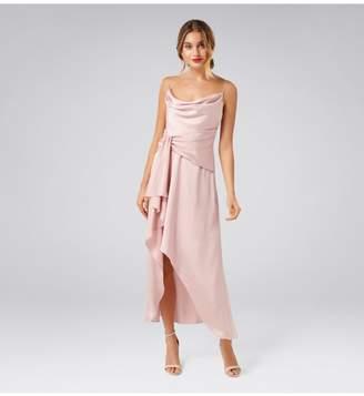 Ever New Dove Cowl Neck Wrap Dress